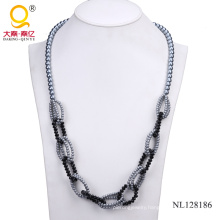 Fashion Glass Bead Costume Necklace for Women Nl128186