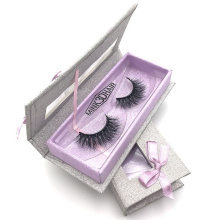 Glitter Private Label Eyelash Kotak Kemasan Kustom