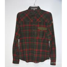 Buen precio 100% algodón hombres camisas de franela