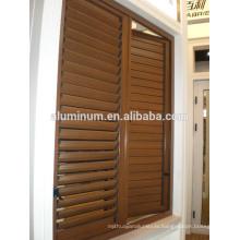 WOODEN aluminum shutters casement window China factory