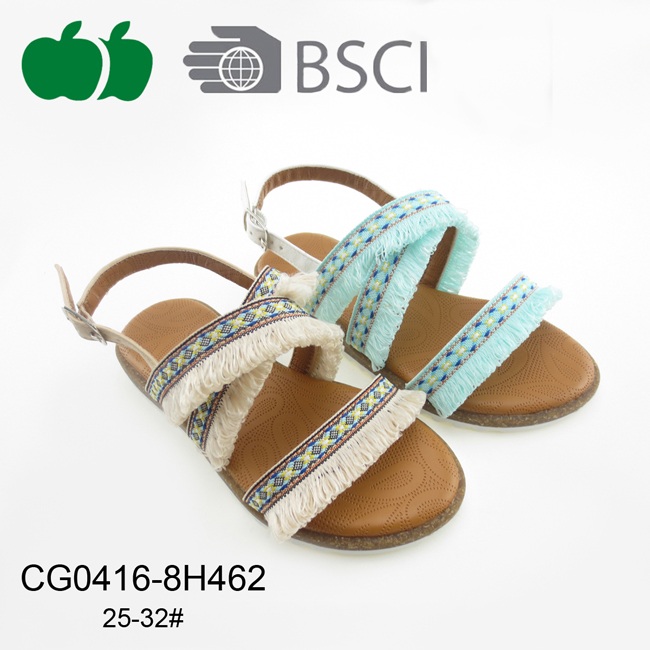 Comfortable Flat Summer Fashion Sandals for Girls