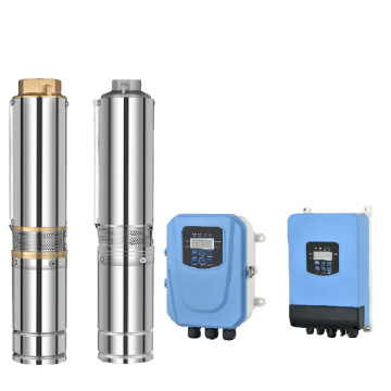 4 INCH submersible solar pump with solar inverter mppt charge controller 24V  400W