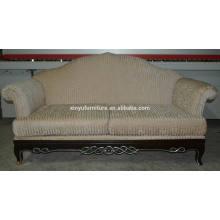 Wooden wing arm reception sofa XYN71