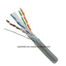 FTP CAT6 LSZH Cable Fluke Testé Soild Nare Copper Grey