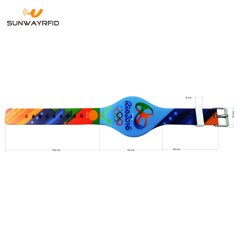 colorful rfid wristband size