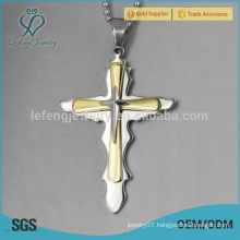 Hot selling celtic kids 316l stainless steel cross pendant