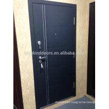 2015 New Steel Door KKD-712 with Aluminum Strips Main Door Design New Color