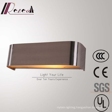 Simple Hotel Decorative Stainless Steel Bedside Square Wall Lamp