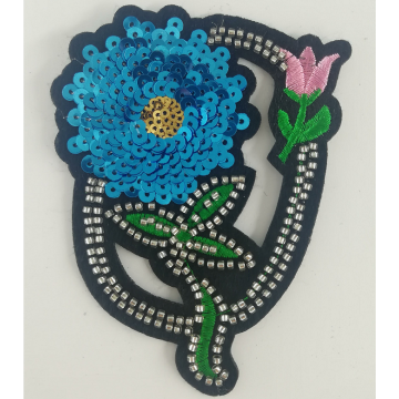 2019 newest flower machine beaded patches for clothing