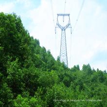 500kv Cabeça de Gato Tipo Ângulo Transmissão de Energia Torre de Aço