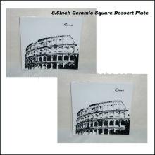 Placa cuadrada de la porcelana de los 22CM de Roma para BS130601A