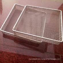 Heat Resistant 304 Stainless Steel Wire Mesh Basket / Mesh Tray