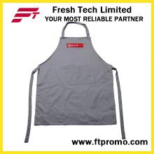100 % Polyester/Baumwolle OEM Custom drucken Promotion Küchenschürze Bib