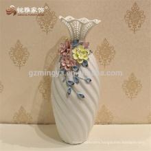 2017 ceramic home decor flower vase european style unique golden ceramic vases