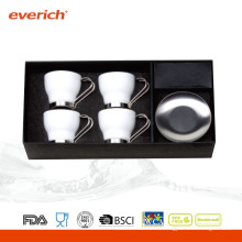 La pequeña taza de café de cerámica promocional superventas fijó