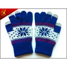 Chica invierno guantes de pantalla táctiles