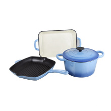 factory sell russian enamel cast iron cookware set pot used in kitchen