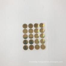 gold color 3D flashing hologram label hologram sticker with your logo