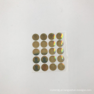 etiqueta do holograma da etiqueta do holograma da cor 3D do ouro com seu logotipo