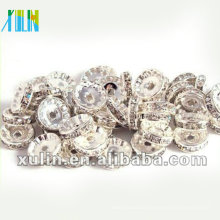 BB084 Lose Strass Kristall Rondelle Spacer Beads