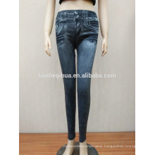 New Style Fashion Sliming Jean Leggings With Real Pockets
