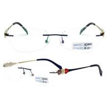 Rimless Metal Titanium Eyeglass Frames (BJ12-304)