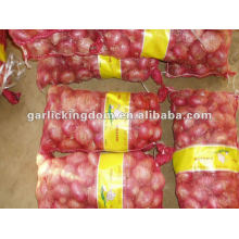Exportador chino fresco de la cebolla roja y amarilla