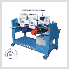 double head computer embroidery machine for cap t-shirt