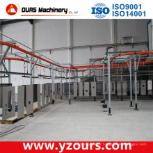 Ligne de revêtement de poudre d'aluminium et de peinture électrophorétique