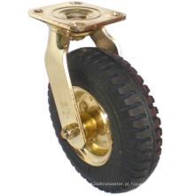 Pneu pneumático giratório (preto) (chapeamento de ouro)