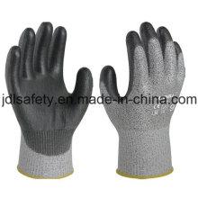 Порезов безопасности работы перчатку с PU покрытием (PD8024)