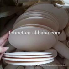 ZTAZON zirconia endurecido alúmina cerámica redonda placa azulejo bloque de ladrillo