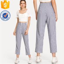 Контрастной вставкой в полоску брюки Производство Оптовая продажа женской одежды (TA3091P)