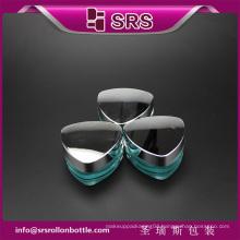 J080 triangle shape luxury skincare cream jar , cosmetics cream empty jar