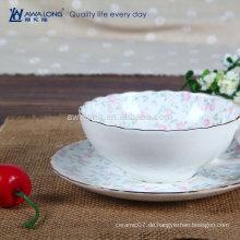Ausgewählte Porzellan Fine Ceramic Pink Flower Bone China Kaffeetasse und Untertasse Set