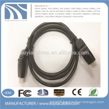 Gold plated rotatable hdmi cable 360 degree flexible 1.4v pure copper braided