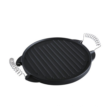 Griddle Round Shape Cast Iron Grill Plate for BBQ
