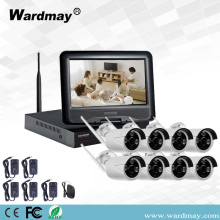 Kits de 8 canales 1.0 / 2.0MP Wifi NVR con monitor de 10 ""