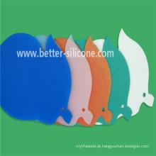 Porta-copos colorida personalizada do silicone da bebida