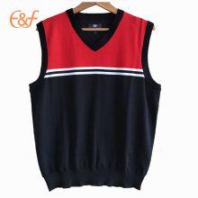 Mens Sleeveless Cotton Knitting  Sweater Vest