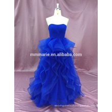 Classic sweet heart royal blue wedding gown with good quality and well handmade BYE-1503