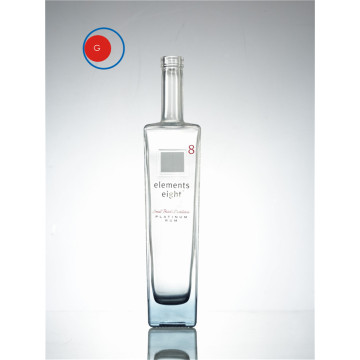 Botella de vidrio 500ml Square Wine Spirit OEM