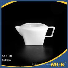 2015 nuevo diseño moderno 150ml línea aérea blanco cuadrado cena leche barco