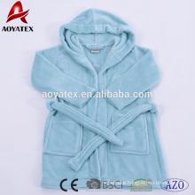 Hot selling unisex design custom made soft flannel fleece kids bathrobe