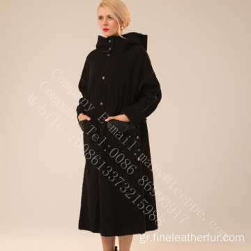 Merino Shearling Overcoat για την κυρία