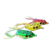 Fishing Artificial Frog Lures Soft Tackle Baits Double Hooks 4CM 6CM Amazon top seller