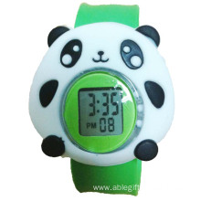 Digital Children Cartoon Silicone Slap Bracelet Watch