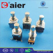 Daier 3pdt botão elétrico 6pins interruptor de pé