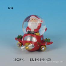 Прекрасный Санта дизайн 65MM смолы сувенирный водный глобус