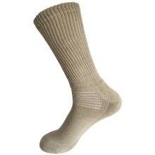 Media almohadilla Sorbtek Coolmax Diabetic Cuidado de la Salud médica Khaki calcetines (JMDB02)